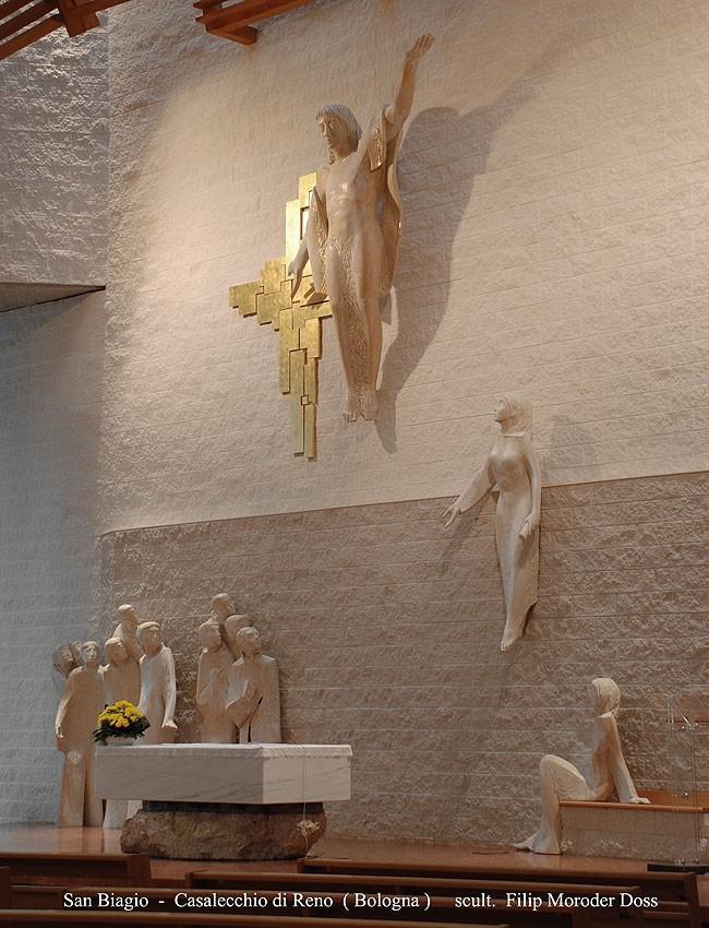 The Cross, San Biagio Church , by Filip Moroder Doss.