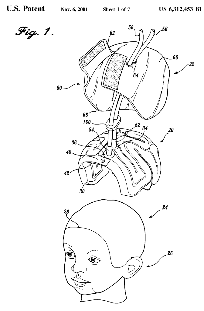 """peopleofpatents :     US Patent 6,312,453 - """"Device for cooling infant's brain"""""""