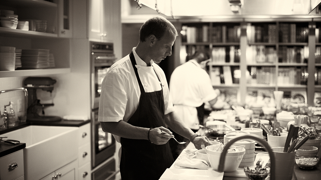 Michael Schulson in the kitchen