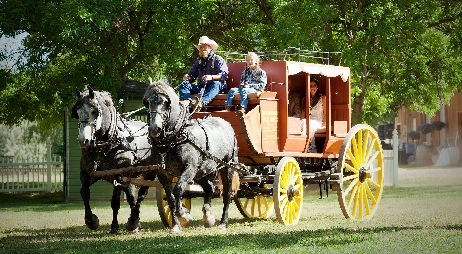 The historic Southern Overland Stagecoach.