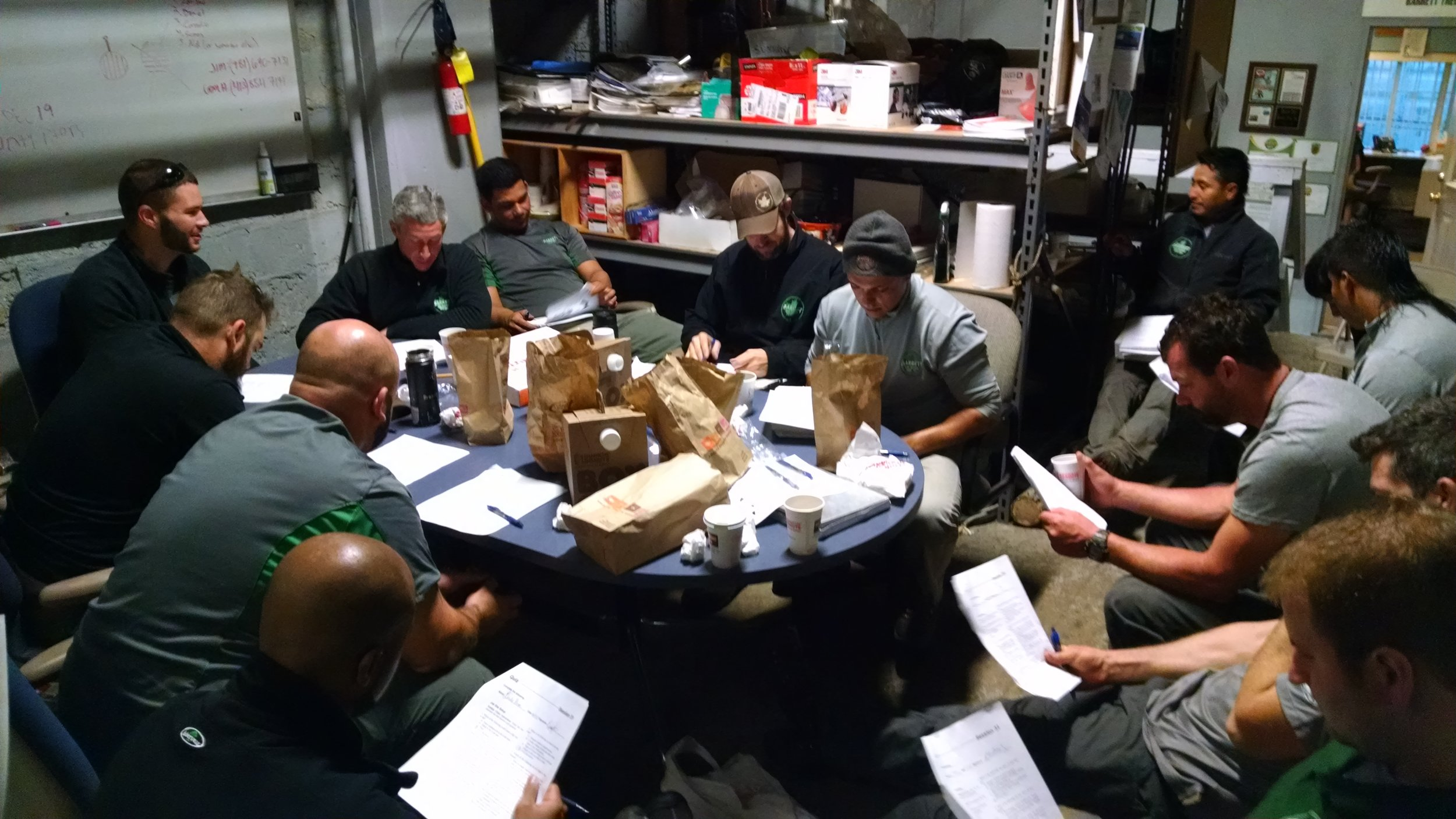 One of the ways BTSE reinforces our culture focused on safety is through weekly company wide safety meetings.