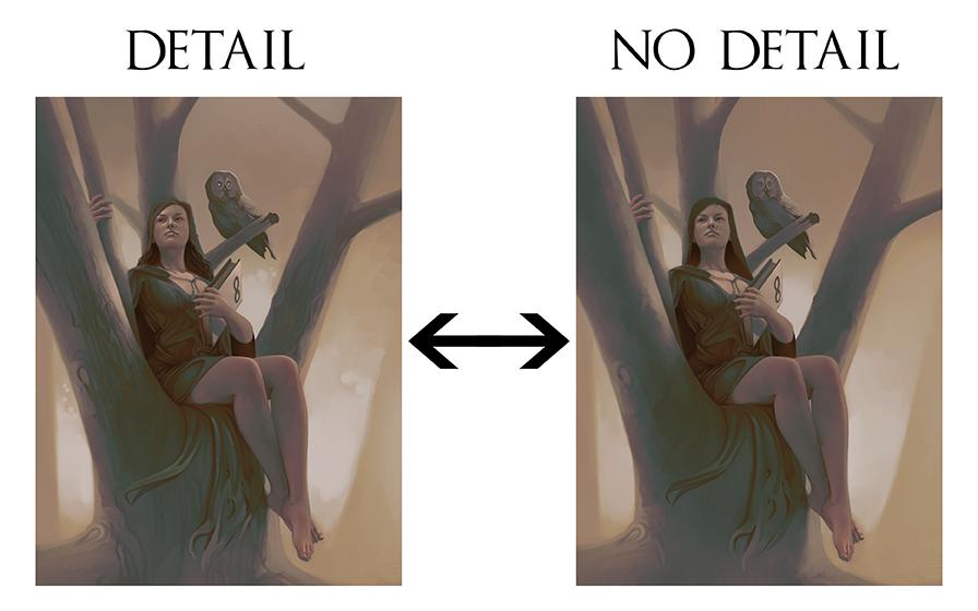 Digital Painting Detail Comparison