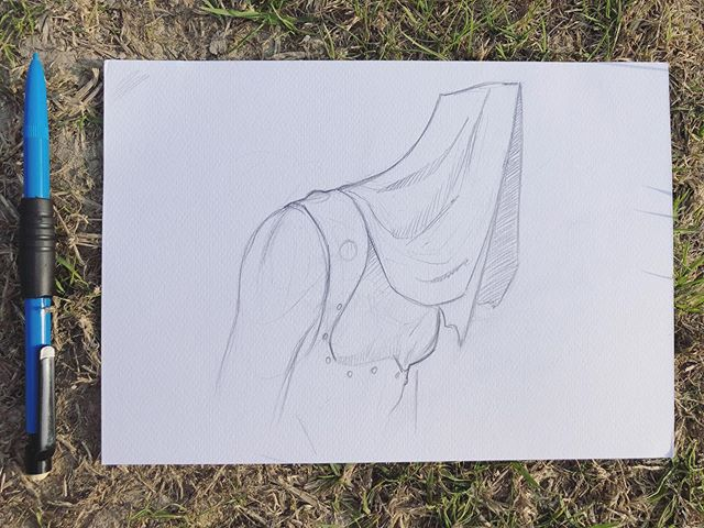 Exploring some ideas for my next painting whilst away on a camping trip with my family. It has forced me to sketch with pencil, which is a super nice change. I hope everyone is enjoying the sun ☀️ . . . . . #sketching #sketchbook #designexploration #drawing #pencilart #artistsoninstagram #fantasyart #surreal #art #doingwhatilove #doitfortheart #doitfortheprocess #camping #inafield  #sun #summer #cocktailsatourtent #jackbakerart #faystree
