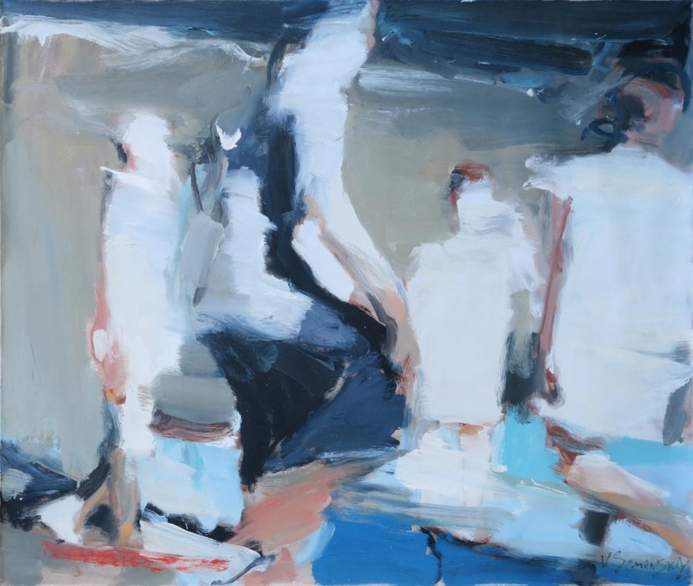 Night Swimming, Vladimir Semenskiy, 2016, oil on canvas.