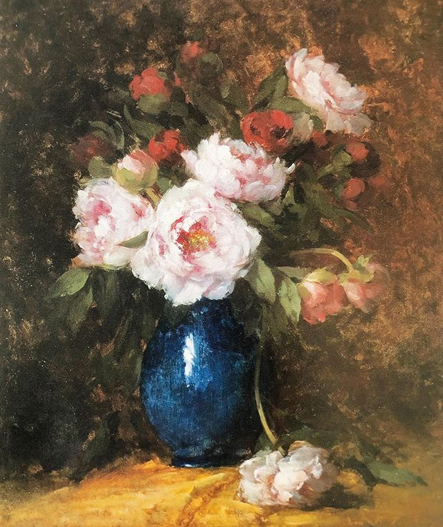 """Hubert Bellis is one of Belgium's most distinguished and collectible """"nature-morte"""" painters. His """"Still-life with a vase of peonies"""" is always on view at IAMA. 💐 . . #californiaart #sanfrancisco #sfmuseum #artmuseum #artgallery #sfbayarea #naturemorte"""