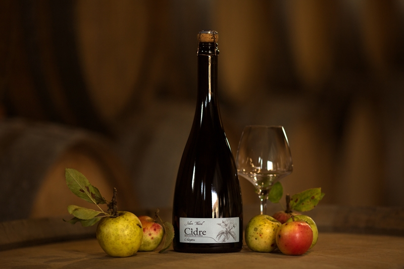Cider from Sebein apples grown on clay with silex. 20 g/l r.s.