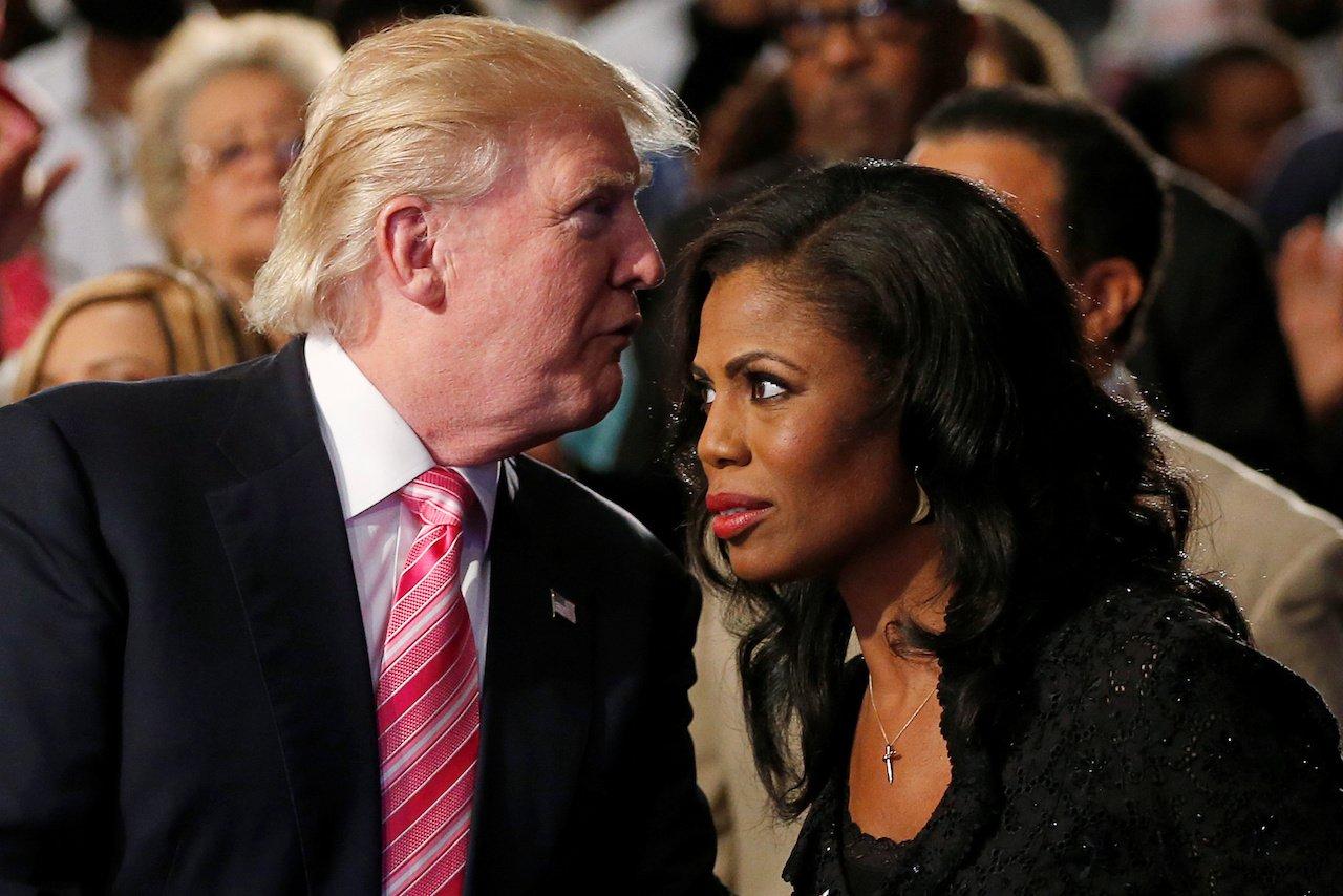 Omarosa and Trump,  photo via Reuters