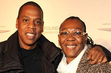 Jay-Z and his mama, photo via  Trace Urban