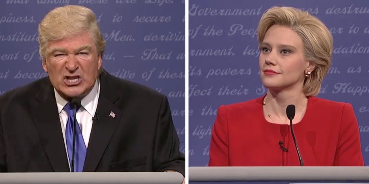 Saturday Night Live did various election inspired skits, photo via  Business insider