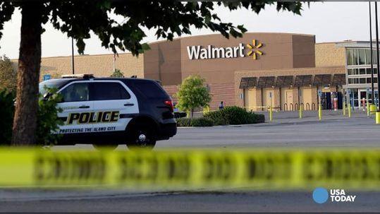 the crime scene, photo via  USA Today