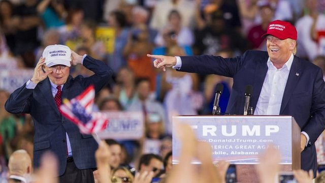 Sessions was the first and only senator to endorse Trump, photo via  BBC