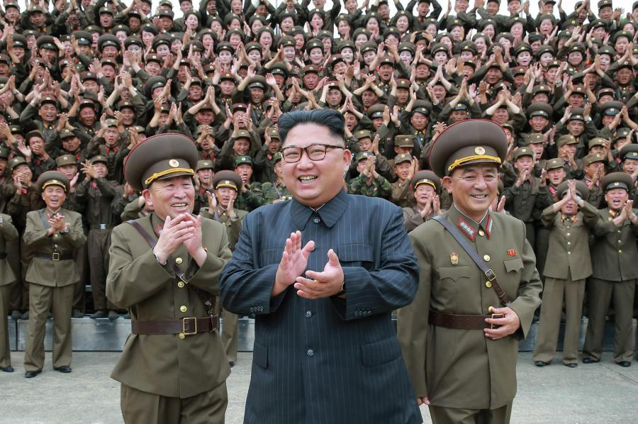 centered is North Korea's Kim Jong Un, photo via  Evening Standard