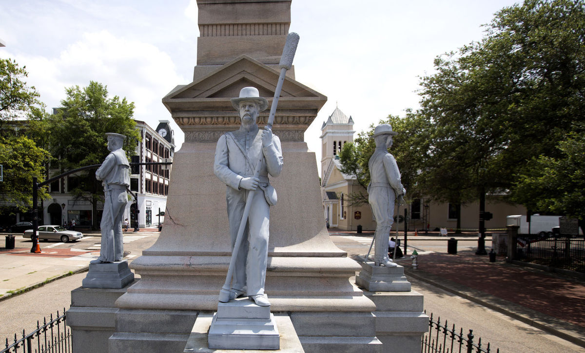 Portsmouth Confederate monument, photo via  The Virginian Pilot