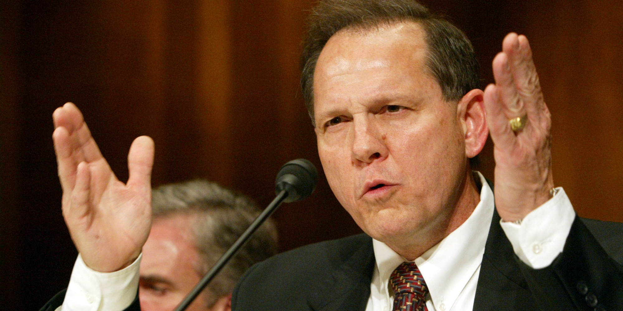 Roy Moore, photo via  Getty Images