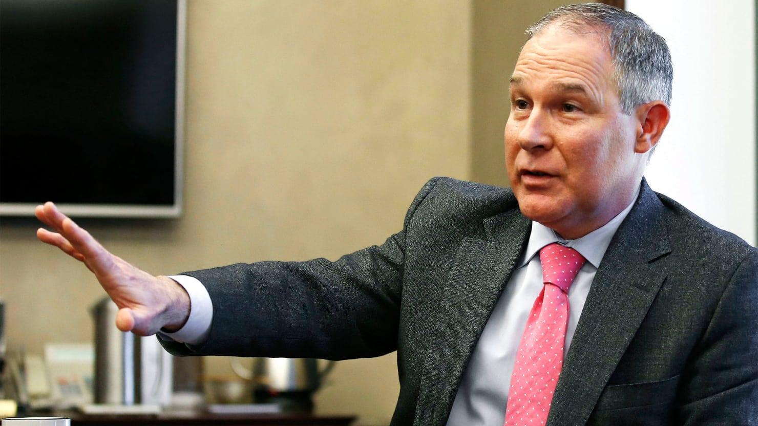 EPA head Scott Pruitt, photo via  AP
