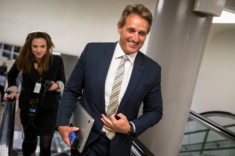 Sen. Flake on the Hill last week, photo via  Getty Images