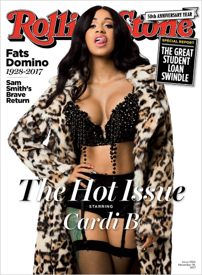 Cardi B for Rolling Stone, photo via  Rolling Stone