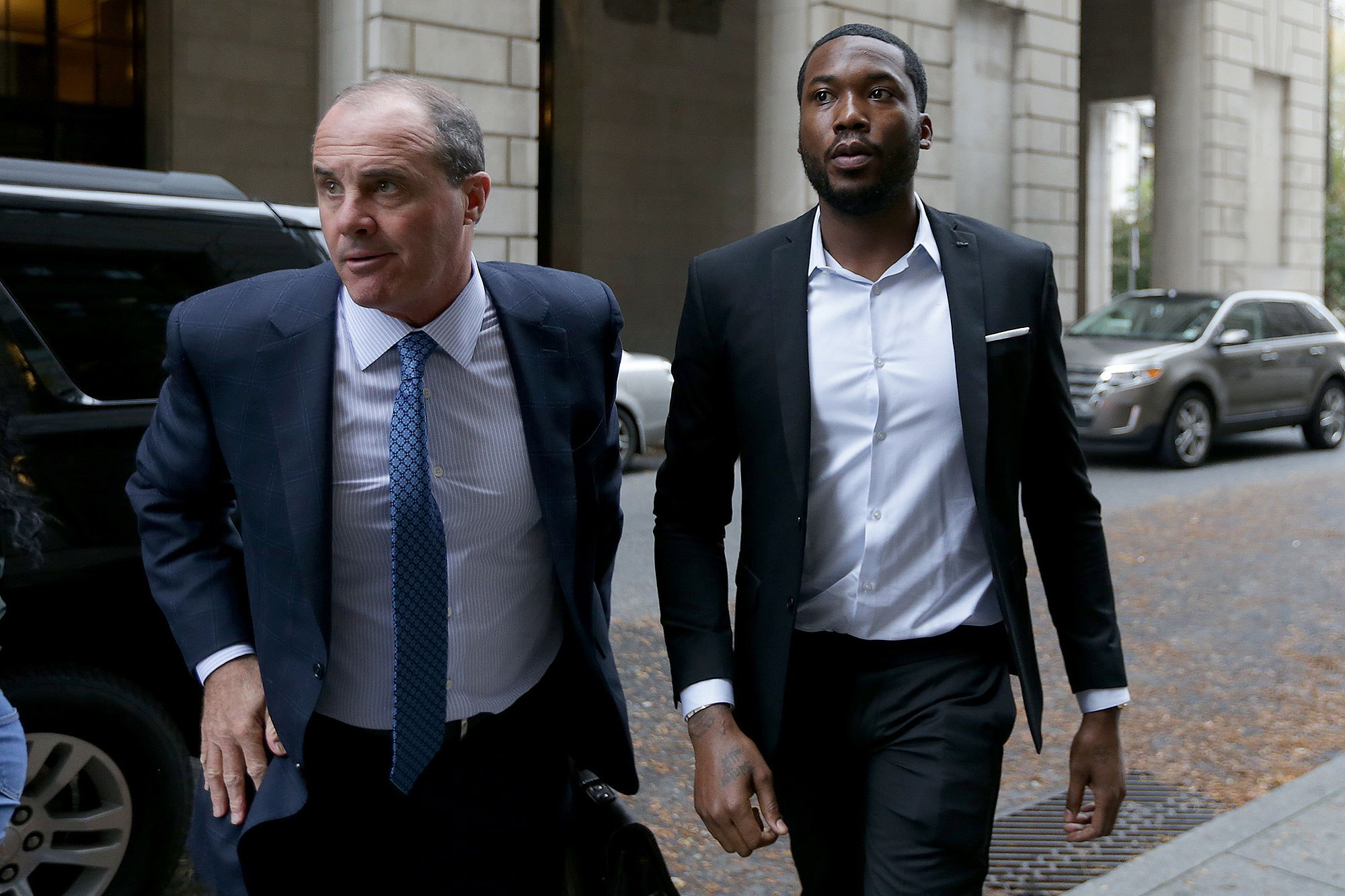 Meek Mill headed to court, photo via  Philadelphia   Inquirer