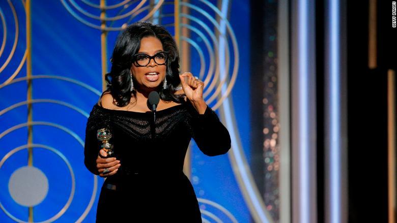 Oprah Winfrey Sunday night, photo via  Getty Images