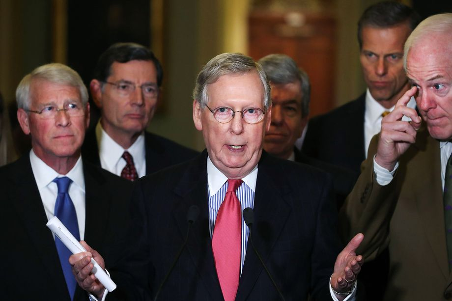 Senate Majority Leader Mitch McConnell, photo via  Getty Images