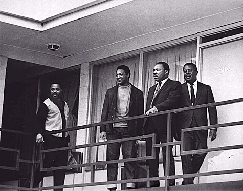 Dr. King at the Lorraine Motel in Memphis, Tennessee