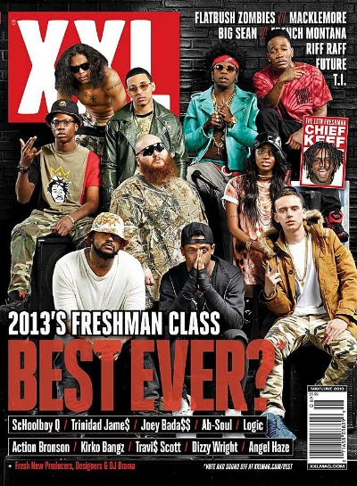 XXL Freshman Class of 2013, photo via  XXL