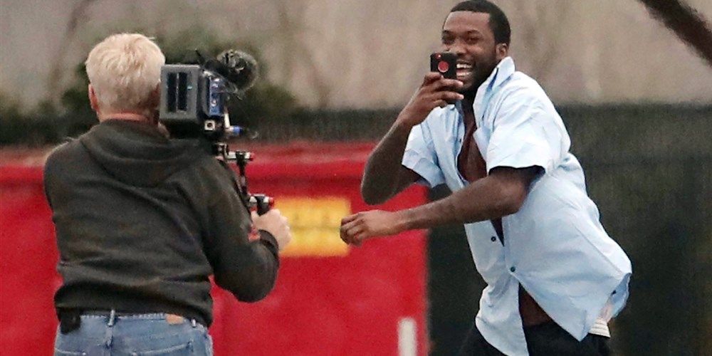 Meek Mill leaving State Correctional Institution in Chester, Pa, photo via  AP/Philadelphia Inquirer