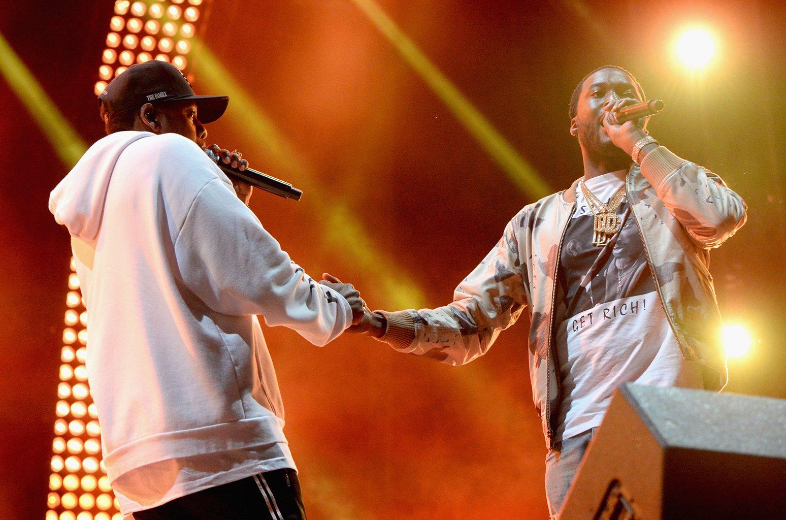 Jay-Z and Meek Mill, photo via  Twitter
