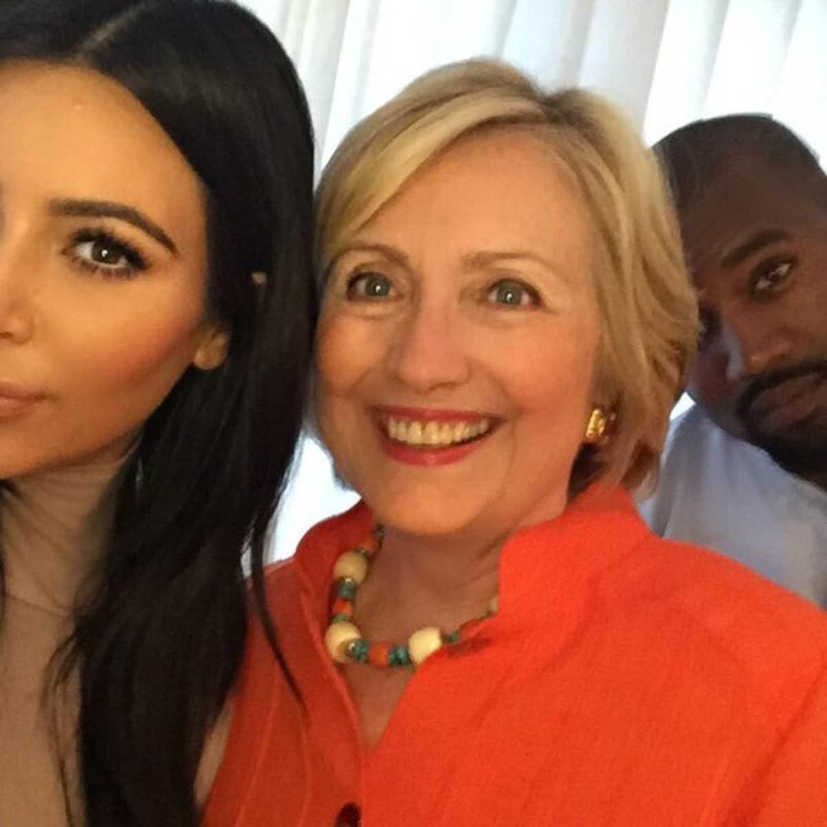 Kim Kardashian, Hillary Clinton, and Kanye West