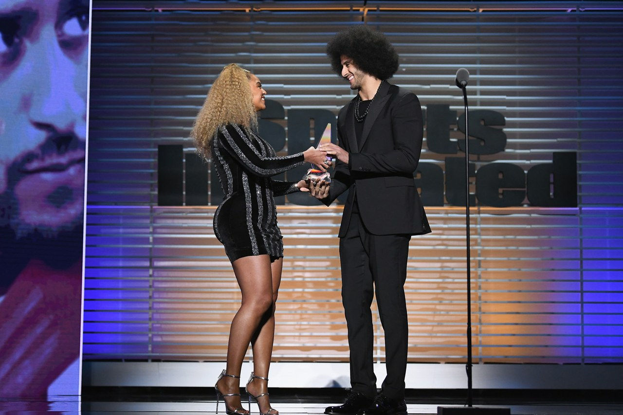 Beyoncé and Kaepernick, photo via  Sports Illustrated