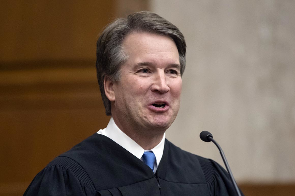 Justice Kavanaugh, photo via  AP