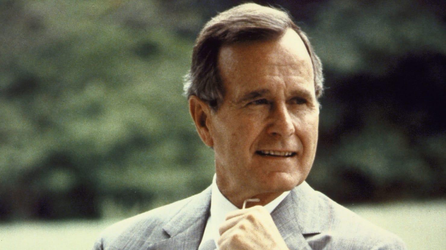 George HW. Bush, photo via  Getty Images