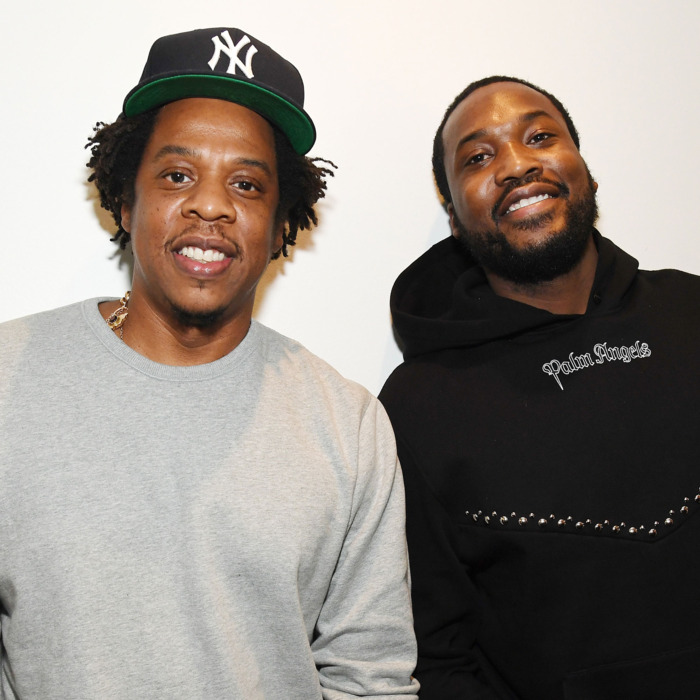 Jay-Z and Meek Mill, photo via  Getty Images
