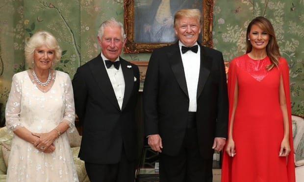 The Prince of Wales and Duchess of Cornwall with Donald Trump and Melania, photo via  Chris Jackson