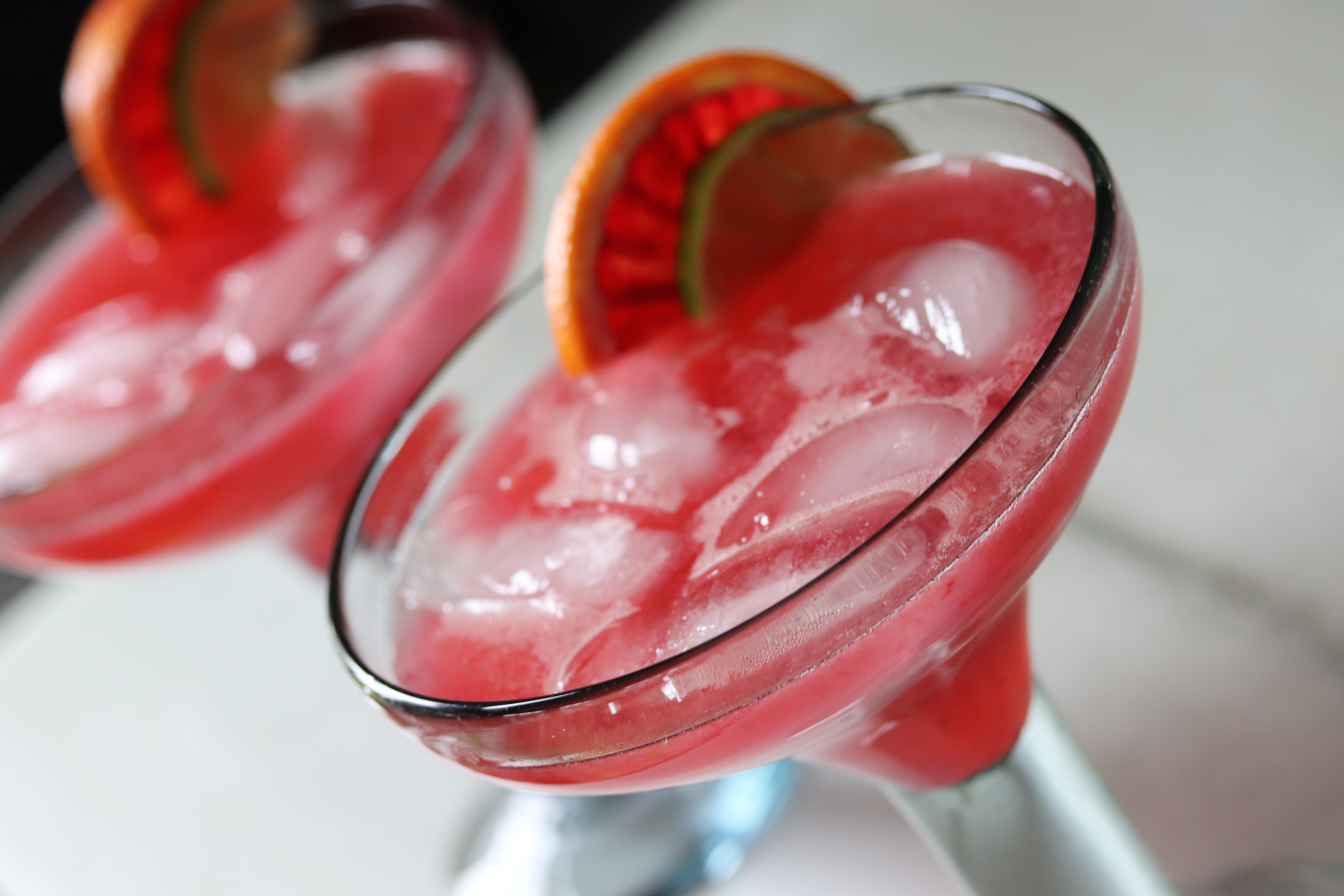 Blood Orange Margarita with Eldeflower Liqueur
