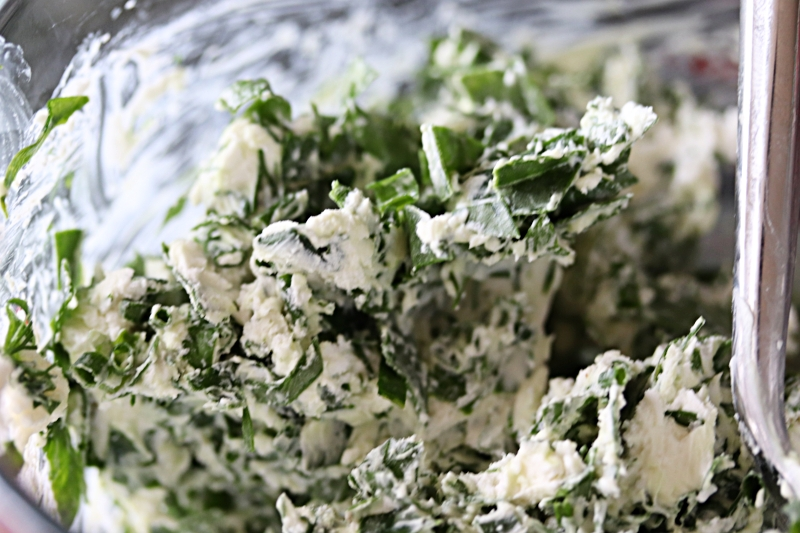 Cream Cheese, Goat Cheese, Heavy Cream, Spinach, Chives, and Dill
