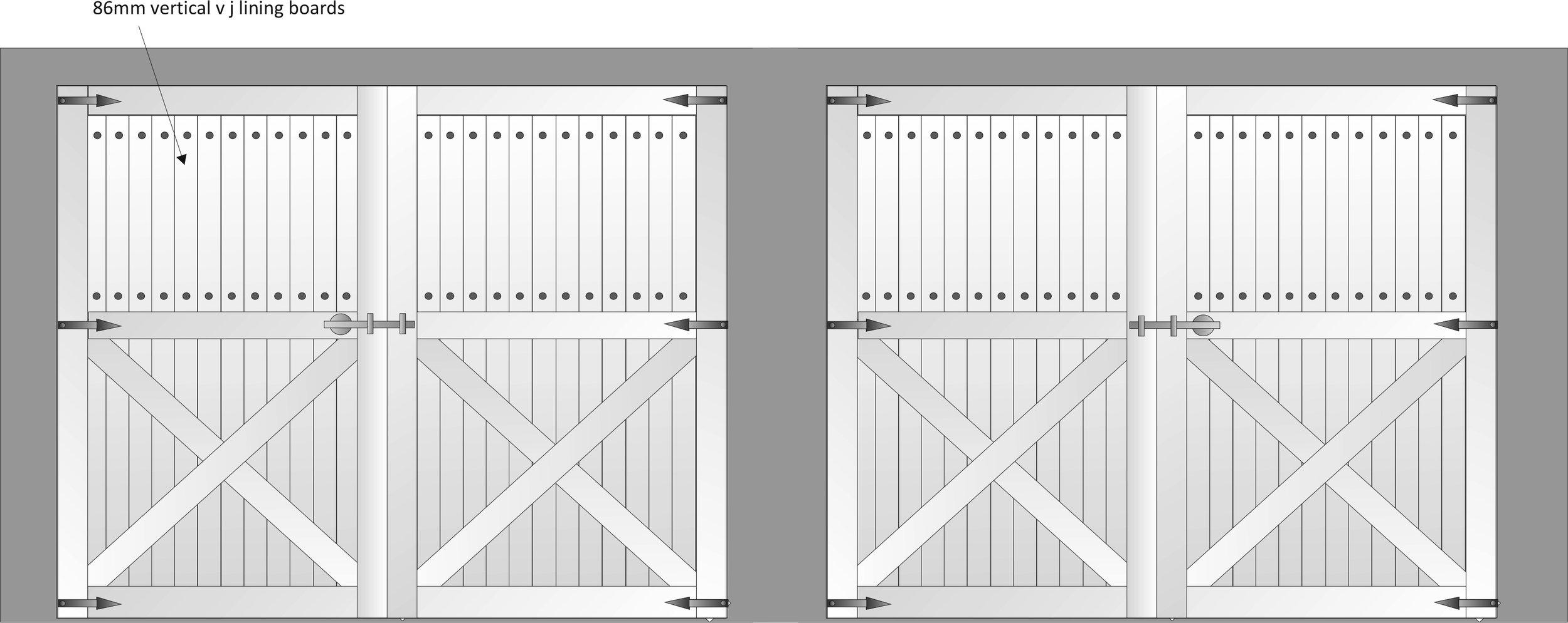 Wedberg Custom Garage Door Sketch