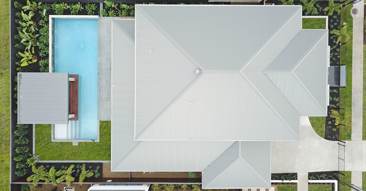 Stoddart Steel Roof on a Metricon display home in Pallara