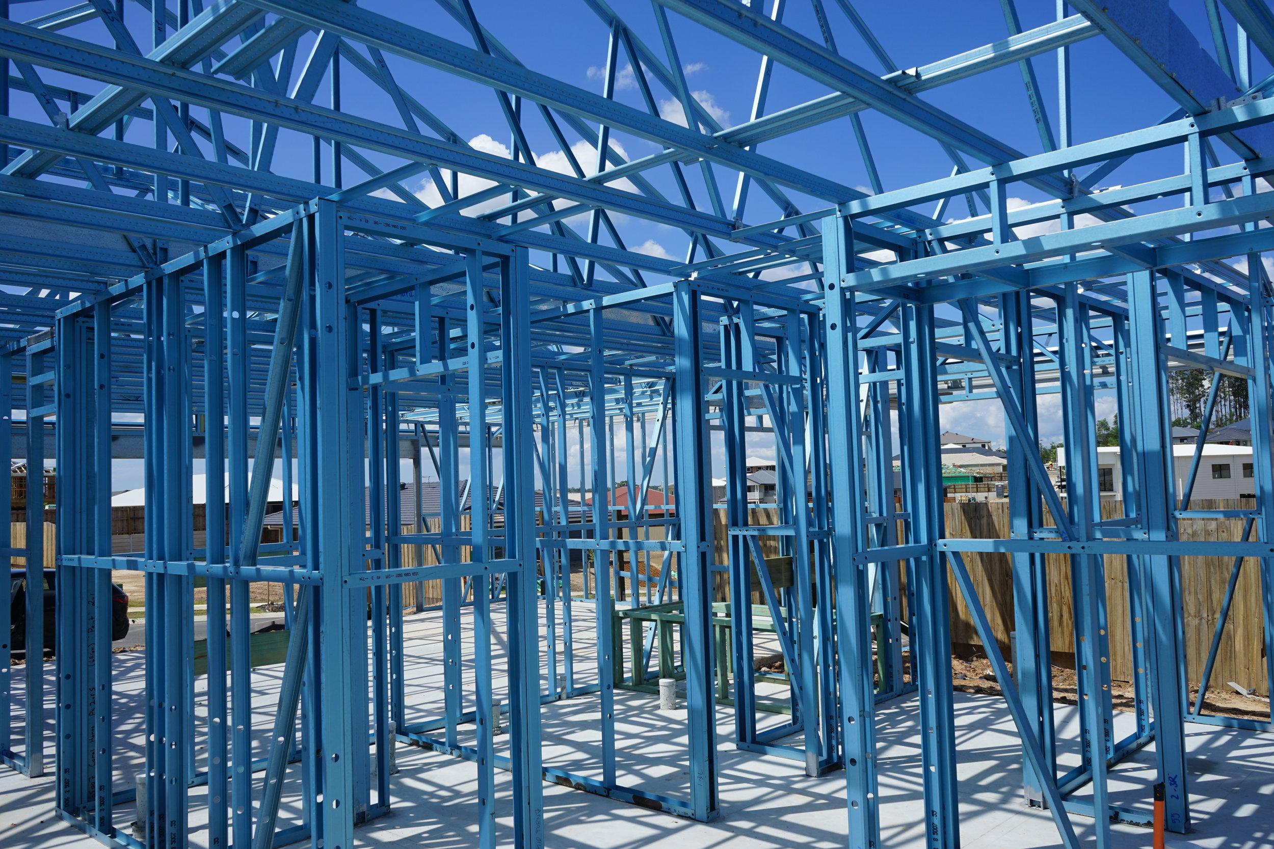 Stoddart Group Steel House Framing site