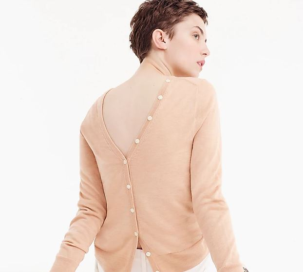 J Crew - Reversible button back sweater