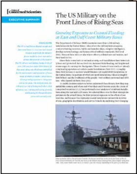 Click image to view the article:  The U.S. military on the Front Lines of Rising Seas