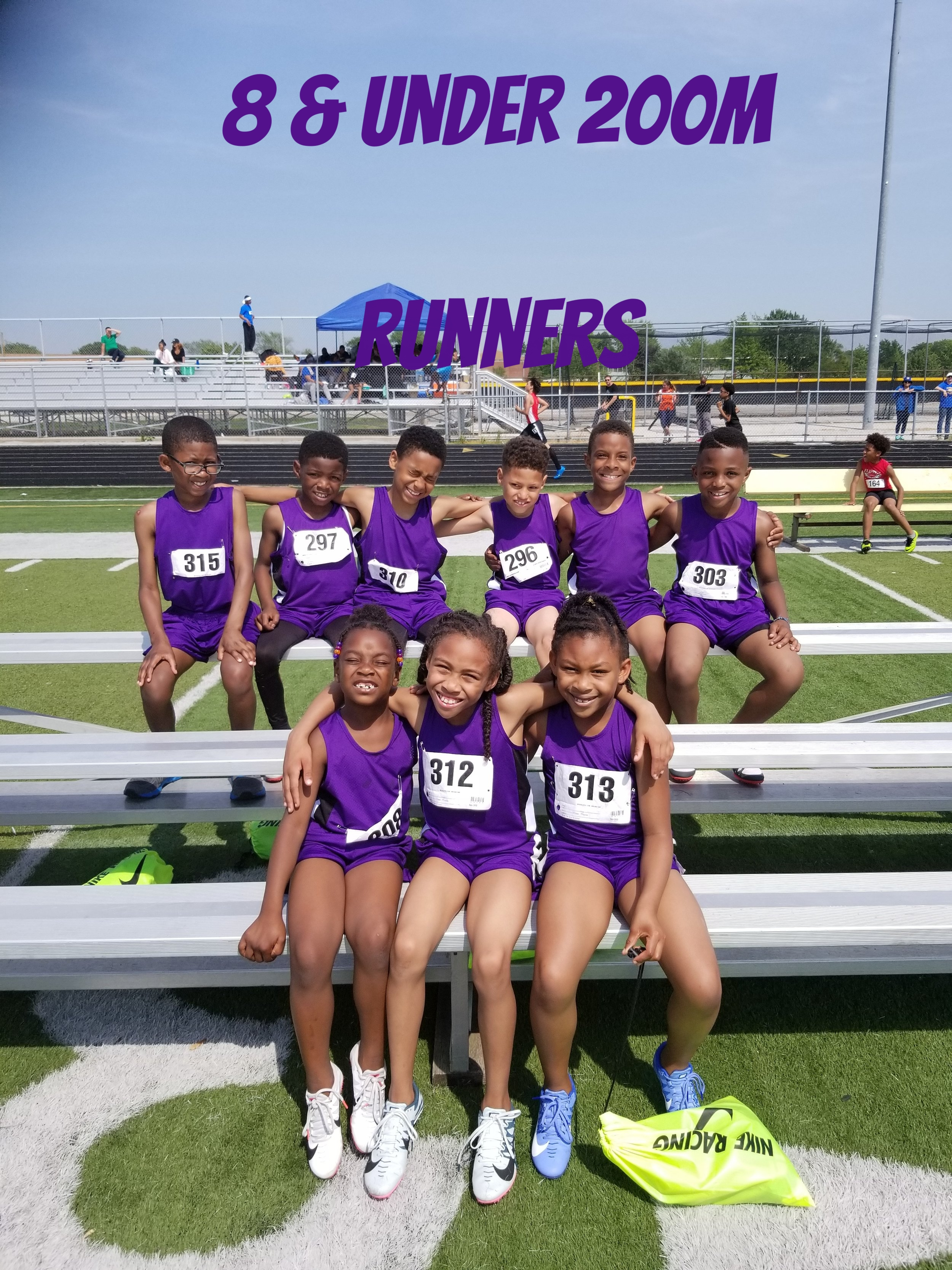 200m Runners 8 & under age group