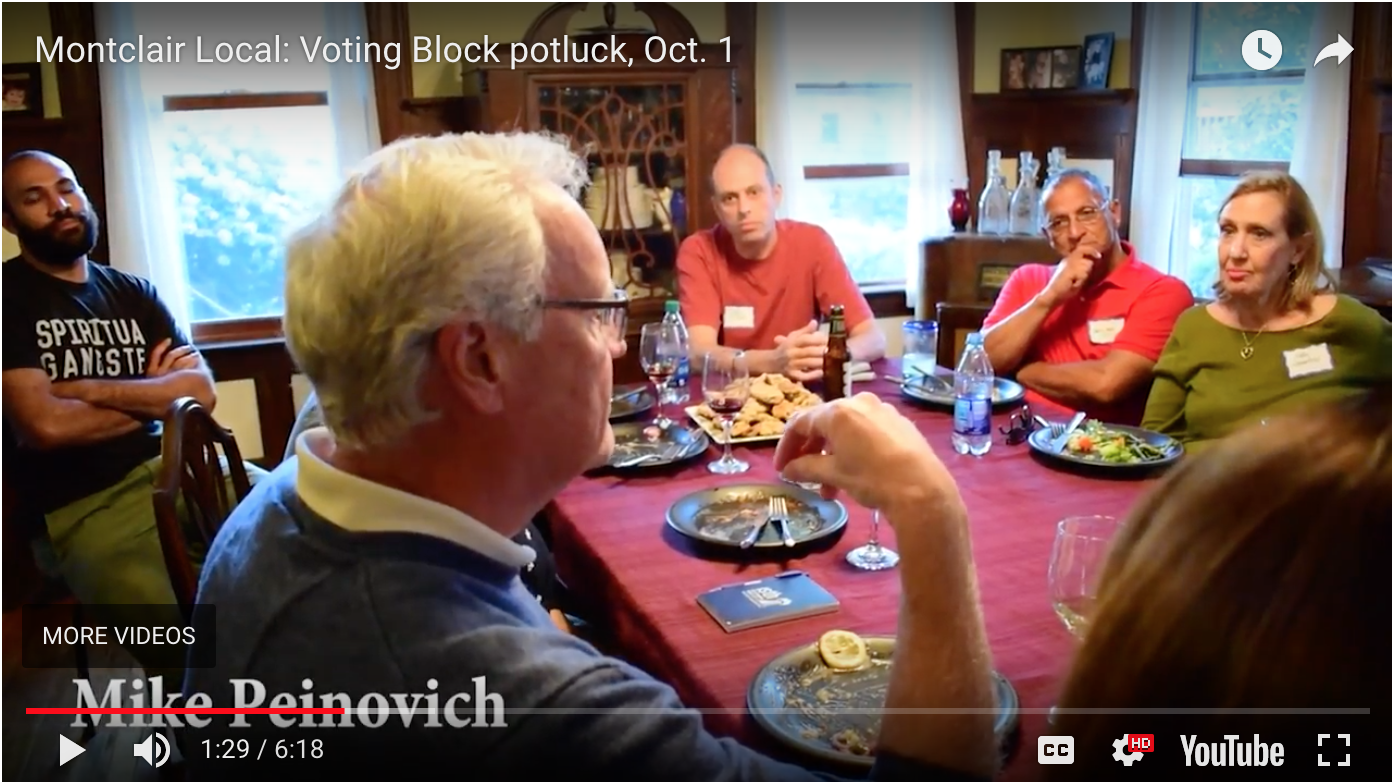 Video: Montclair residents discuss governor's race at Voting Block potluck – Montclair Local