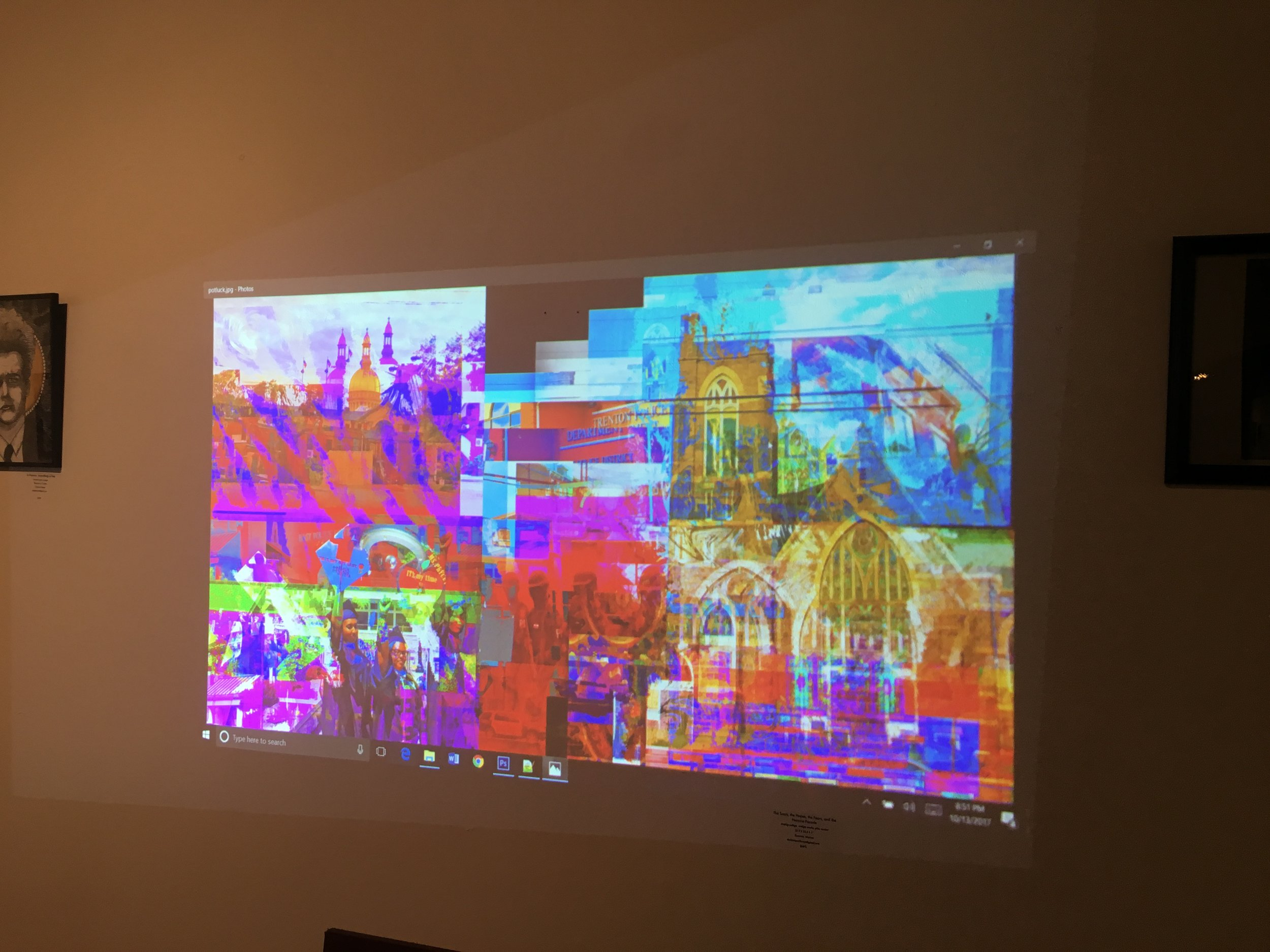 The final version of Phillip McConnell's digital art created in response to the conversation at Artworks.
