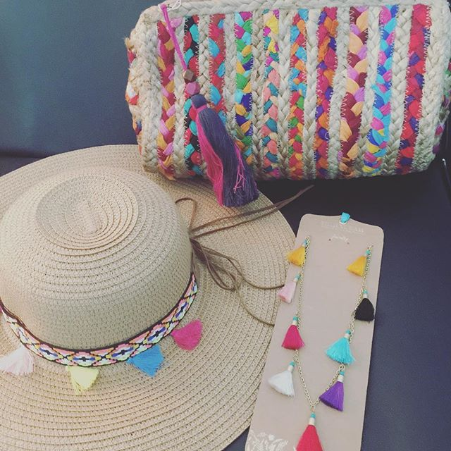 Tassels are still everywhere this season and why not brighten up your outfit with one of these fun accessories. #shopsmall #shopsheaalexander