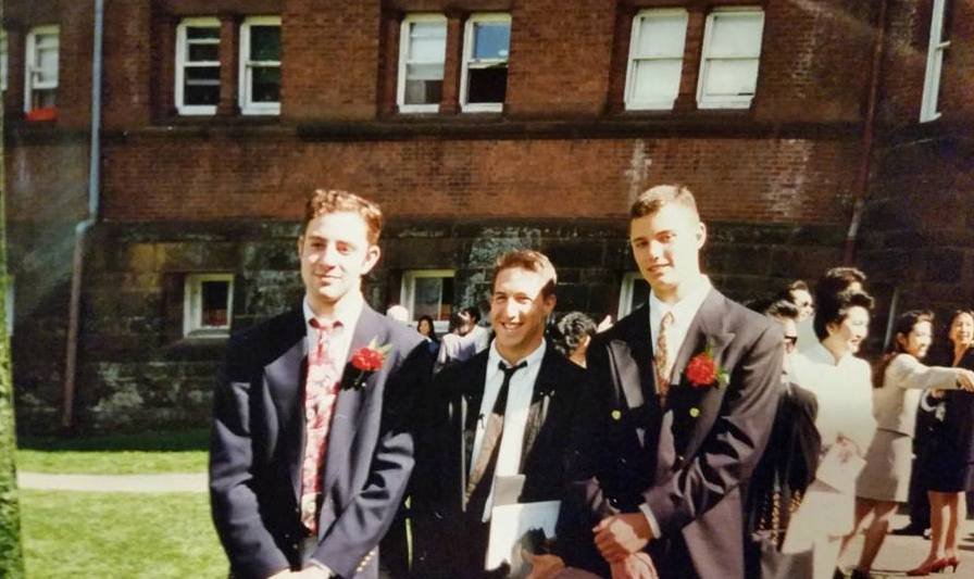 Paul (middle) graduating from Wilbraham & Monson Academy