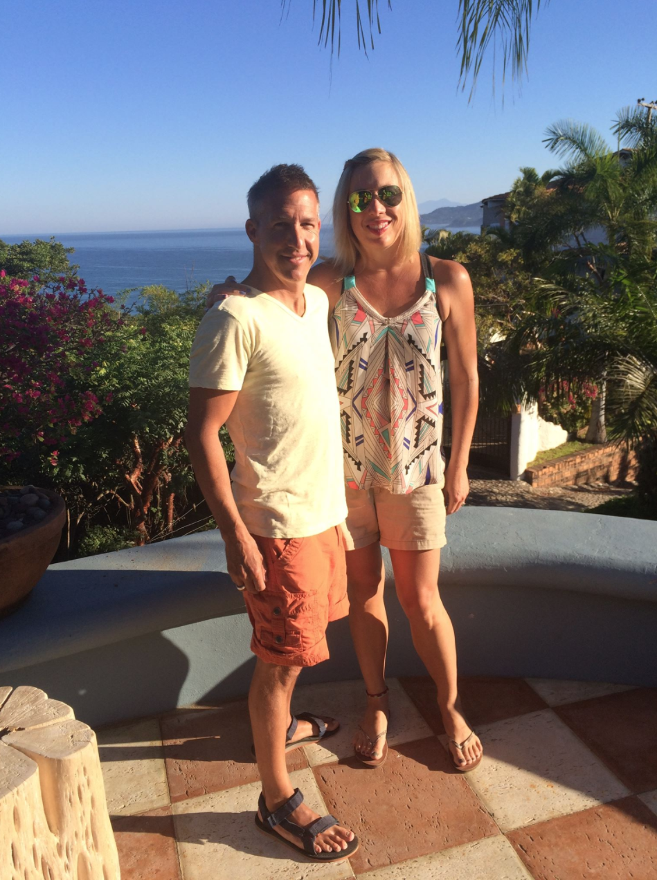 Paul with Dawn in Sayulita, Mexico