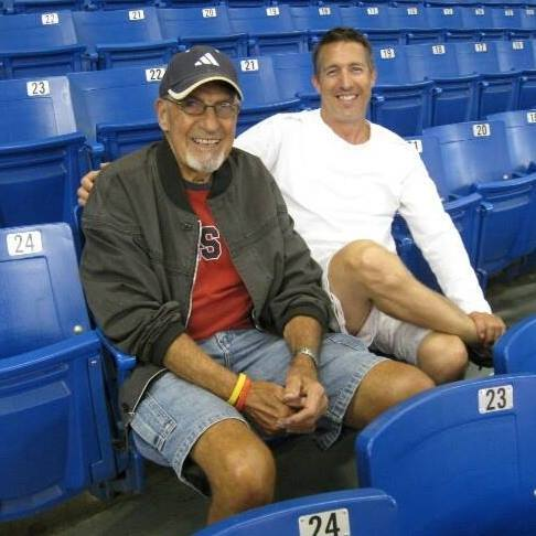 Paul with his father at Tampa Bay Rays game