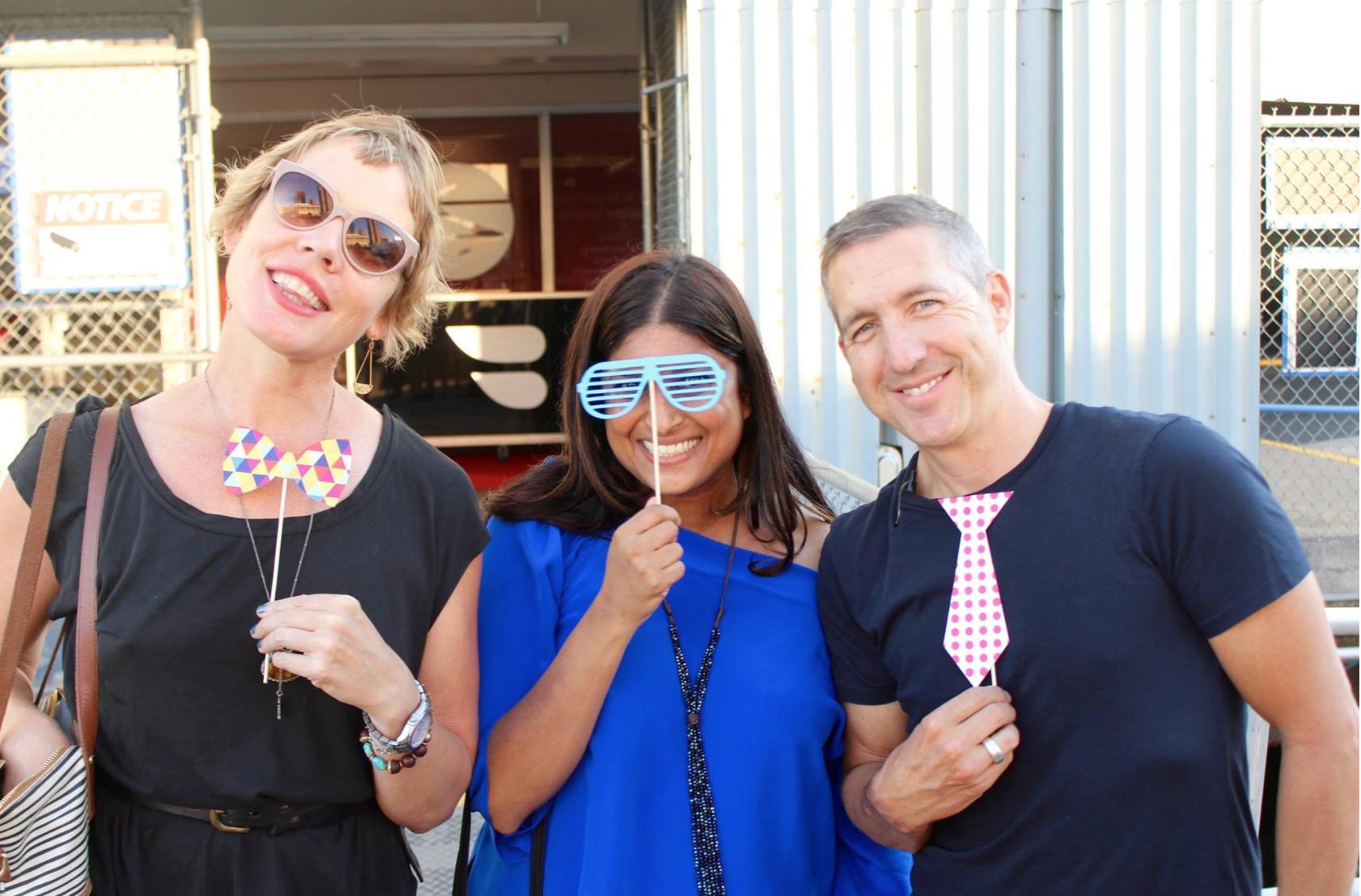 Paul with Mirador agents  Cheriece White  and  Neeta Mulgaokar