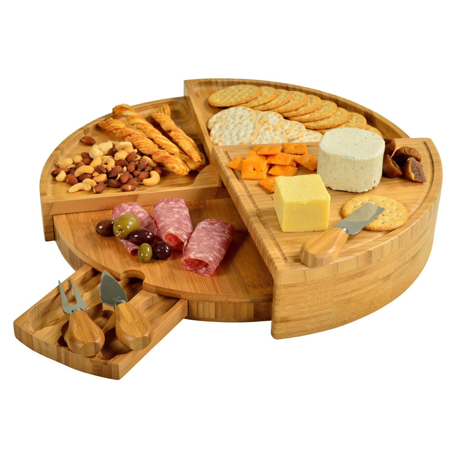 10. Bamboo Transformable Cheese Board Set | $$